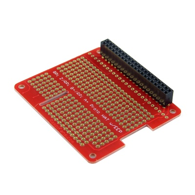 DIY Proto HAT Shield for Raspberry Pi 2 / B+ / A+ - Red