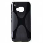 "XBM9 ""X"" Pattern Non-Slip Protective TPU Back Case Cover for HTC ONE M9 - Black"