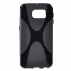 """X"" Pattern Non-Slip TPU Back Case for Samsung Galaxy S6 - Black"
