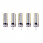 G4 6W LED Corn Lamps Warm White 3000K 520lm SMD 3014 - White + Transparent (AC 220~240V / 5 PCS)