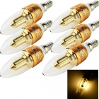 YouOKLight E14 3W 300lm Kerzenlampe Warm White 3000K 32-SMD 3014 LED (AC 85 ~ 265V / 6 PCS)