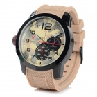 CURREN 8182A Men's Silicone Band Analog Quartz Sports Wrist Watch - Brown + Black (1 x 626)