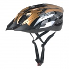 JSZ SD18 18-Vent Breathable Cycling Riding Bike Safety Helmet - Golden + Black (L)