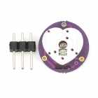 Mini Pulse / Heart Rate Sensor Module Compatible with Arduino - Purple