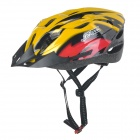 JSZ SD18 18-Hole Breathable Cycling Riding Bike Safety Helmet - Yellow + Red (L)