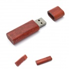 HanGreat 101 Eco-Friendly Bamboo USB 2.0 Flash Drive - Red (8GB)