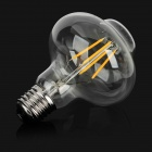 E27 4W LED Filament Bulb Warm White Light Lantern Shape - Transparent