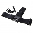 Nylon Head Band + 3-Way Adjustment Chest Strap Mount Base for GoPro Hero 3+ / 3 / 2 / 1 - Black