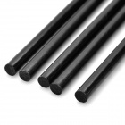 DIY 2.5 * 200mm Carbon Fiber Rod for Aircraft Model - Black (5PCS)