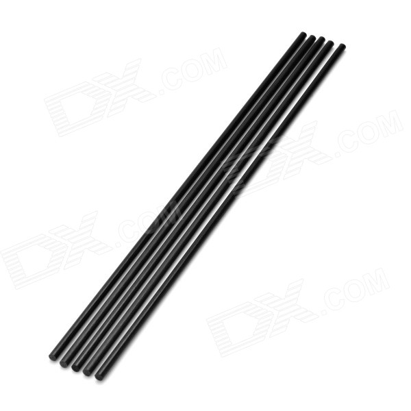 DIY 3 * 200mm fibra de carbono Rod para modelo de aeronaves - preto (5PCS)