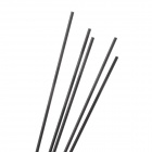 DIY 2 * 200mm fibra de carbono Rod para modelo de aeronaves - preto (5PCS)