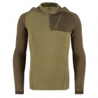 EDCGEAR Men's Casual Polyester + Nylon + Spandex Hoodie Sweatshirt Fleece - Khaki (XL)
