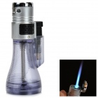 Vase Style Windproof Blue Flame Butane Jet Lighter - Silver + Grey + Multi-Color