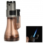 Vase Style Windproof Blue Flame Butane Jet Lighter - Brown + Deep Grey + Multi-Color
