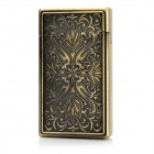3D Relievo Pattern Lighter w/ Electronic Induction Switch - Bronze