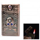 3D Relievo Pattern Lighter w/ Electronic Induction Switch - Brass