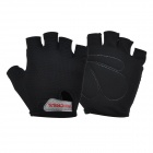 NUCKILY PC03 Men's Half-Finger Lycra Outdoor Cycling Gloves - Black (M / Pair)