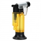 F43 Windproof Welding Jet Lighter - Translucent Yellow + Black