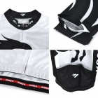 MOON CX-MO15 Men's Long-sleeved Cycling Jersey + Pants Suit - Greyish White + Black (Pair / L)