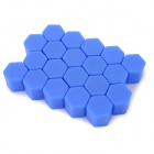Universal 17# Silicone Car Wheel Hub Screw Nut Decoration Cap Cover - Blue (20pcs)