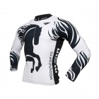 MOON CX-MO15 Men's Long-sleeved Cycling Jersey + Pants Suit - Greyish White + Black (Pair / XL)