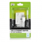 Adaptador Ethernet USB 2.0 10/100 / 1000Mbps - Blanco (11cm)
