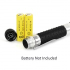 Anti-slip White Light LED Flashlight w/ Clip - White + Black (2*AA)