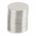 NdFeB N35 Round Magnets - Silver (15*1mm / 20PCS)