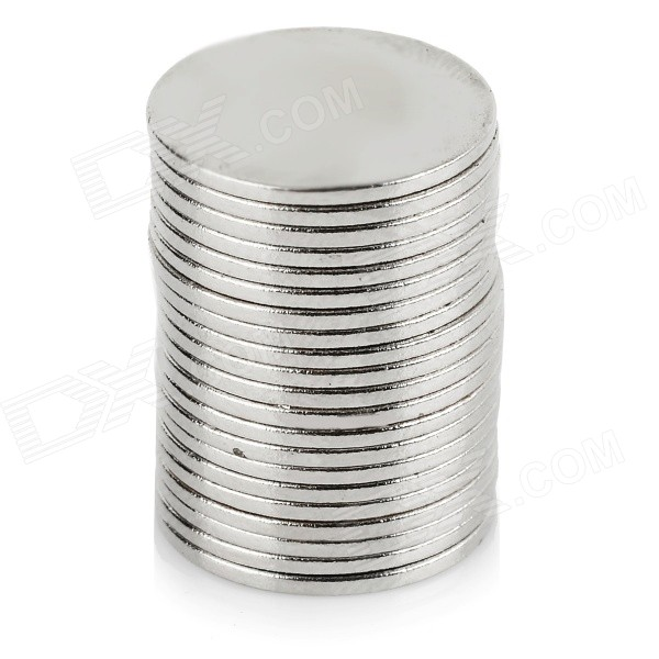 NdFeB N35 Round Magnets - Silver (14*1mm / 20PCS)