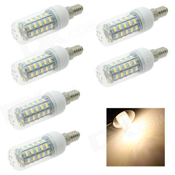 HONSCO E14 6W 48-SMD 5730 320lm Warm White Lamp (220V / 6PCS)
