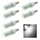 HONSCO E14 6W 48-SMD 5730 LED Corn Lamp Bulb Cool White Light 6500K 320lm (AC 220V / 6 PCS)