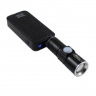 XPE Q5 380lm 3-Mode White Zooming USB Rechargeable Flashlight - Black