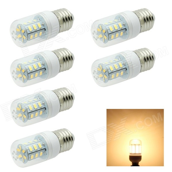 HONSCO E27 4W LED Corn Lamps Warm White 3500K 280lm SMD 5730 - White (AC 220V / 6 PCS)