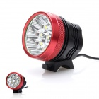 ZHISHUNJIA 4800lm 3-Mode White Light Bicycle Lamp w/ 8 x Cree XM-L T6 - Black + Red (6 x 18650)