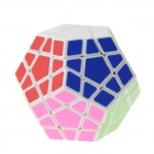 Spring Adjustable Magic Dodecahedron Megaminx Rubik's Cube - White + Multi-Color