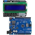 High-Quality Micro USB UNO R3 ATmega328P Development Board + LCD 1602 Keypad Shield Kit for Arduino