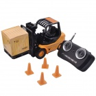 Mini Desktop 6-CH Radio Remote Control Engineering Forklift Toy - Yellow