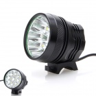 ZHISHUNJIA SHQ-9 5400lm 3-Mode White Bicycle Light w/ 9-LED XM-L T6 - Black (6 x 18650)