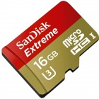 SanDisk SDQXN-16GB UHS-I/U3 Micro SDHC Memory Card w/ Adapter - Black (16GB)