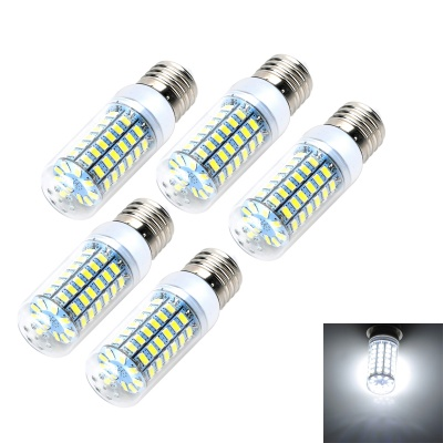 E27 12W LED Corn Bulb 69-SMD 5730 Cold White Light 1200lm 6500K (5PCS)