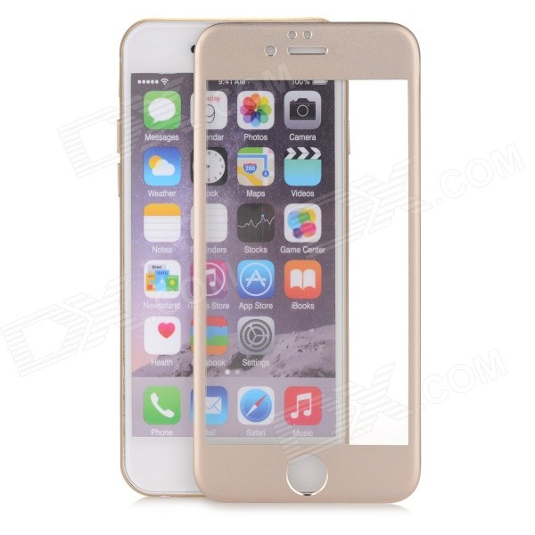 Titanium Alloy + Tempered Glass Film for IPHONE 6 - Champagne Golden