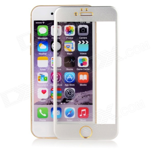 Titanium Alloy + Tempered Glass Film for IPHONE 6 - Silvery White