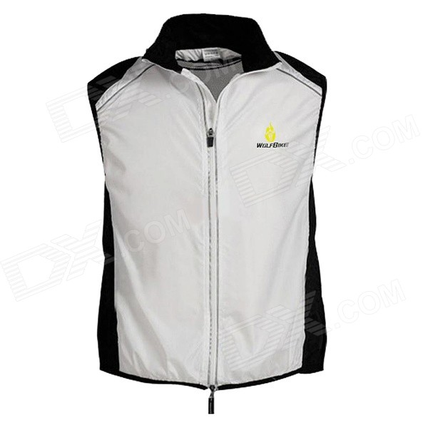 WOLFBIKE BC230 Cycling Riding Sports Waistcoat Vest - White (M)