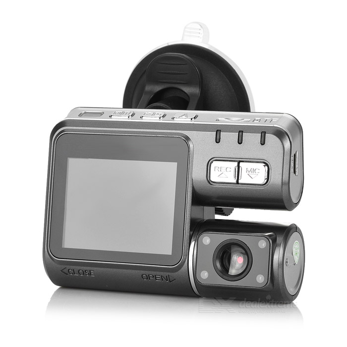 "JS-C188 2.0"" TFT CMOS 170' Wide-Angle HD 4-LED IR Night Vision Car DVR Camcorder w/ Rotatable Lens"