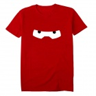 Stilvolle Cartoon Eyes Stil Kurzarm T-Shirt - Rot (XXL)
