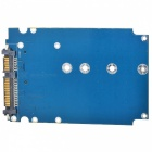 M.2 NGFF to SATA SSD Adapter Card - Blue + Black