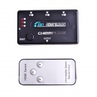 CHEERLINK 3X1 1080P Mini HDMI V1.4b Switch w/ Remote Control - Black
