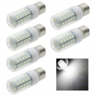 HONSCO E27 6W LED Corn Lamp Bulb White Light 6500K 320lm 48-SMD 5730 - White (AC 220V / 6 PCS)