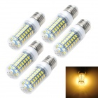 Marsing E27 12W LED Corn Lamps Warm White 3000K 1200lm SMD 5730 - White + Yellow (AC220~240V / 5PCS)