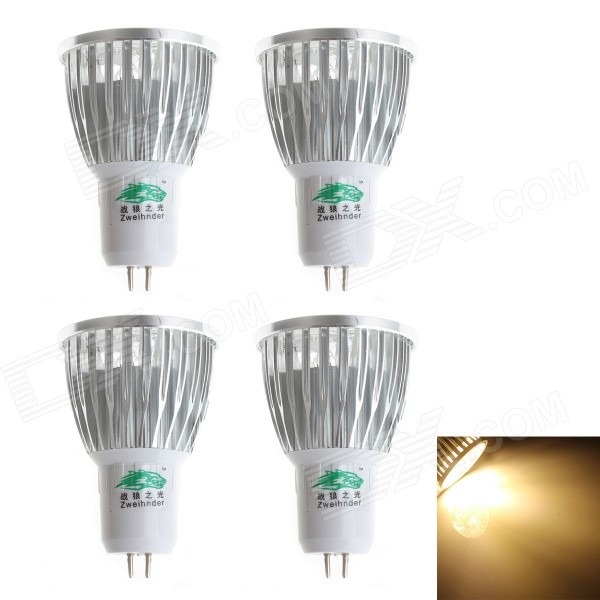 Proyector blanco caliente de Zweihnder MR16 5W 400lm 5-LED (110-240V, 4PCS)